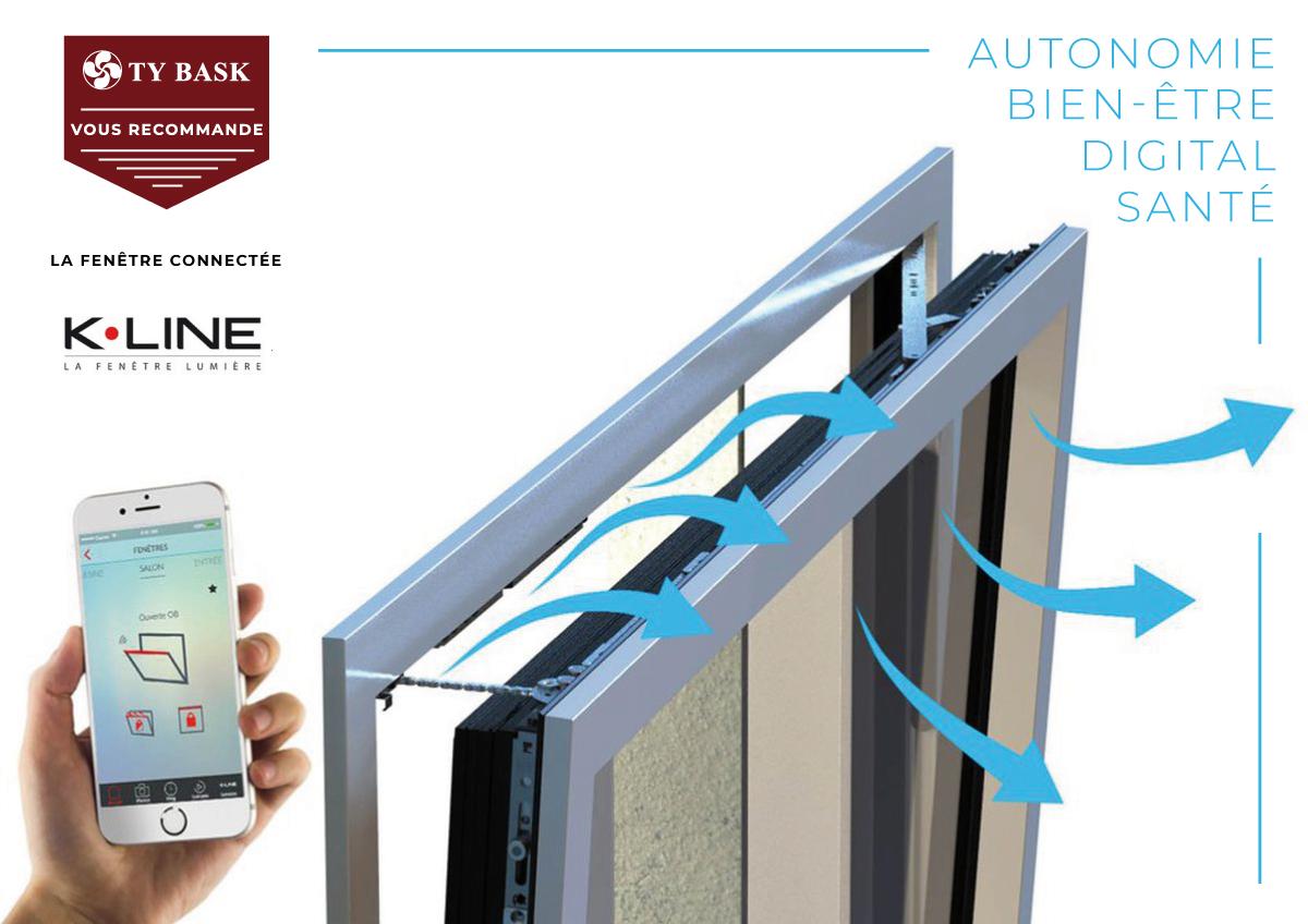 Innovation fenêtre K-Line pour aération naturelle