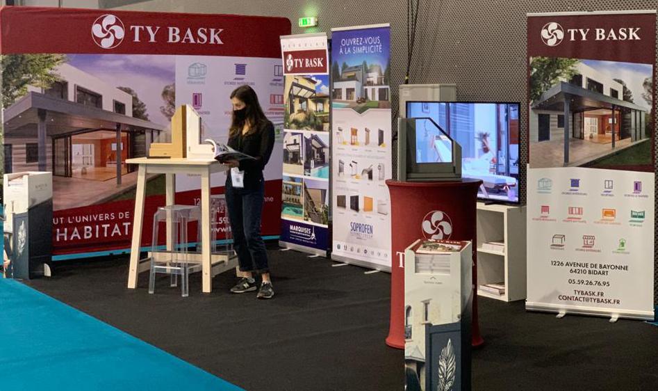 Stand Ty Bask sur le Salon Habitat Immobilier à la Halle d'Iraty de Biarritz du 2 au 4 octobre 2020